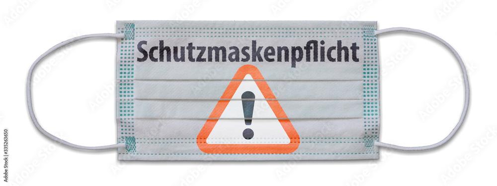 Fototapeta Schutzmaskenpflicht