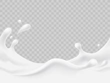 Milk Splash Seamless Pattern. ...