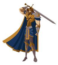 Royal Knight King Arthur With ...