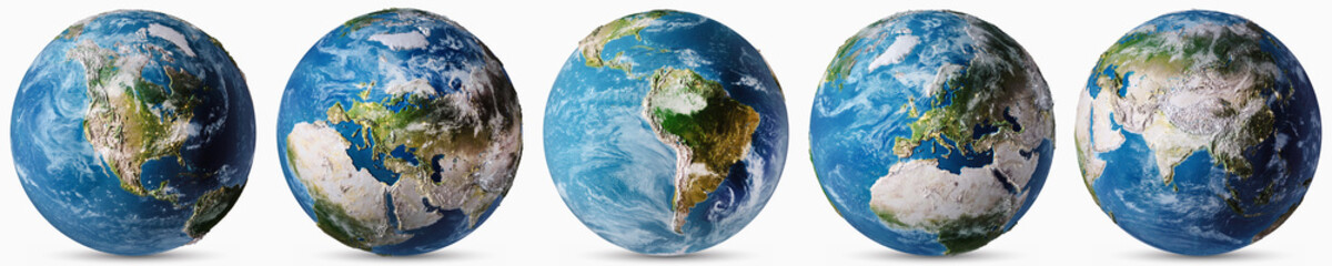 Planet Earth countries map set