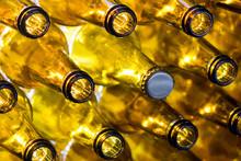 Glass Empty Beer Bottles In Ro...