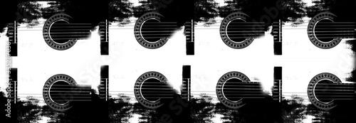 Grafika gitara czarno-białe