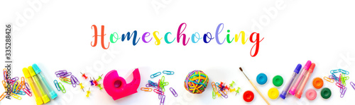 Valokuvatapetti Homeschooling web banner
