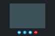 video call screen template. Vector illustration