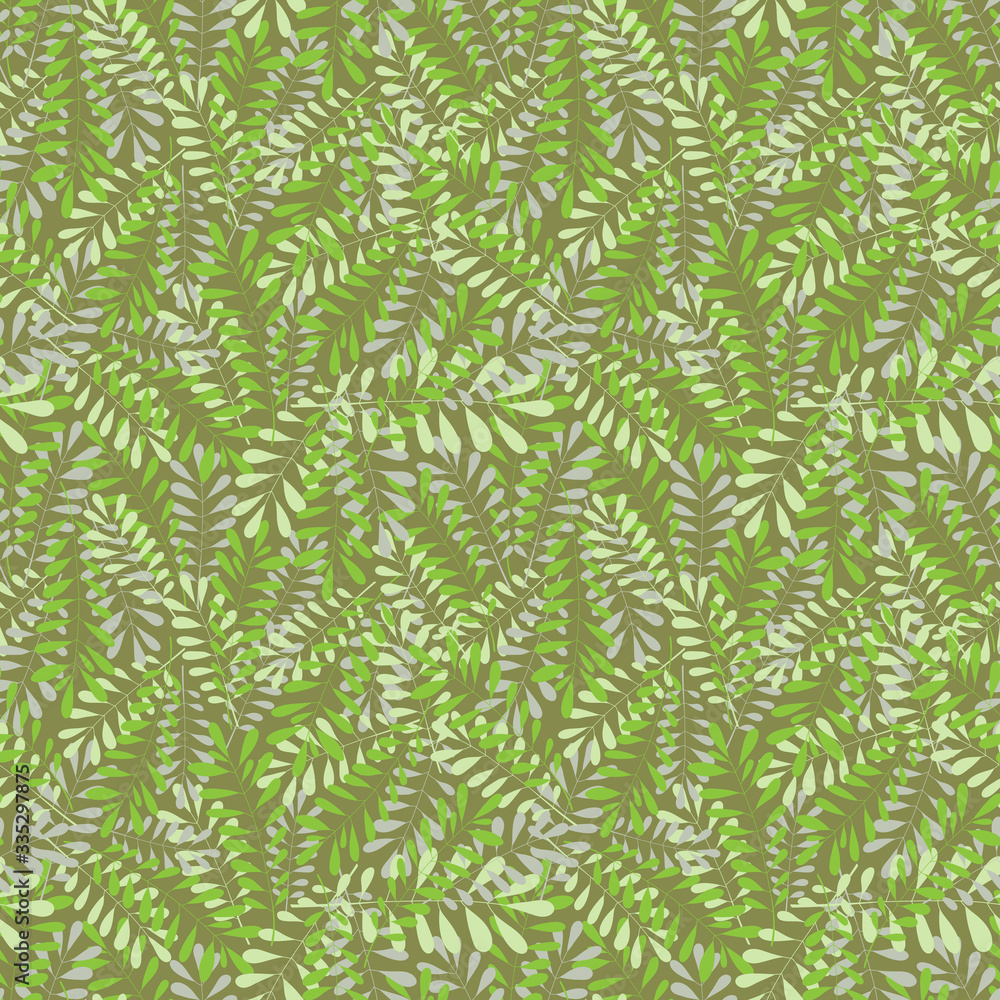 Vector seamless pattern. Artistic background with a floral pattern.