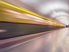Retro Subway Train Of A Series...
