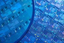 Macro Of Silicon Semiconductor Wafer.