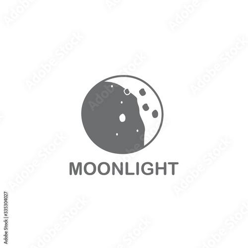 Obraz Moon surface icon logo design template - fototapety do salonu