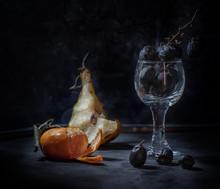 Still Life  Dark Food Rotten  ...