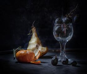 still Life dark food rotten Fruits