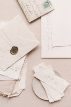 Old Envelope With Old Paper