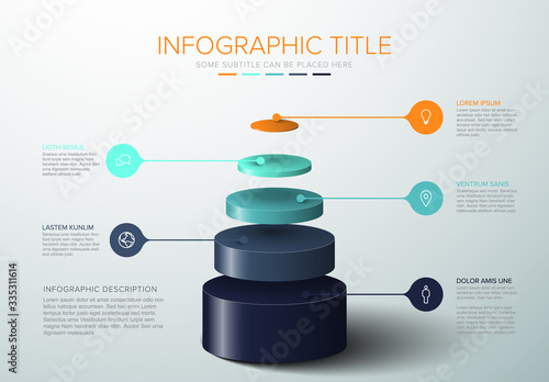 Vector Infographic layers template Wallpaper Mural
