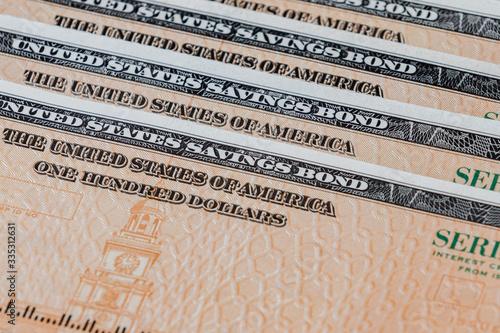 Photo United States of America government savings bond series EE