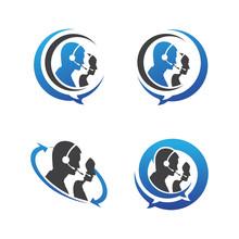 Call Center | Customer Service Support | Hotline Icon Logo