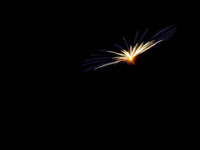 Blue And Gold Firework, Room For Text