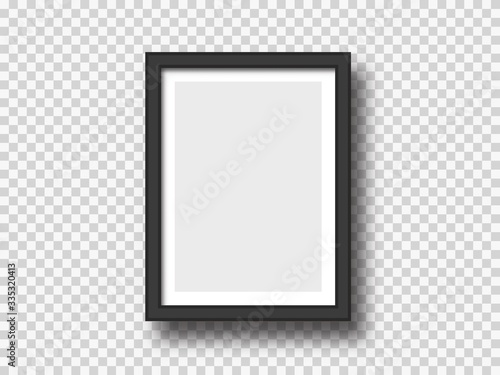 Foto Black wall picture or photograph frame mock up