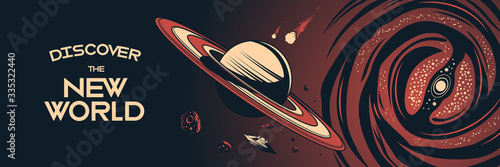 Space Horizontal Poster Canvas-taulu