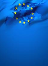 Waving Flag Of Europe European...