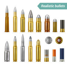 Bullets And Cartridges Realistic Set