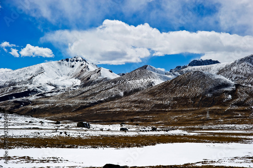 snow covered mountains in Tibet, China  #335326487