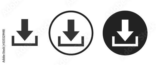 Fotomural Download icon . web icon set .vector illustration