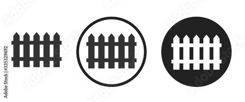 Fence icon . web icon set .vector illustration Tableau sur Toile