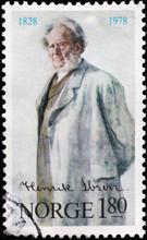Portrait Of Henrik Ibsen On No...