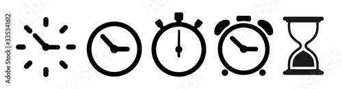 Fototapeta Vector hourglass set icons. Sandglass icon obraz