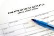 canvas print picture - Unemployment Benefits Application Form