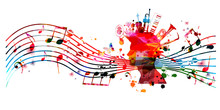 Colorful Music Promotional Pos...