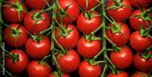 Cherry tomatoes view