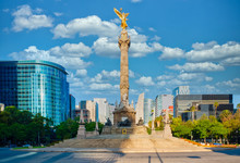 The Angel Of Independence ,a Symbol Of Mexico City
