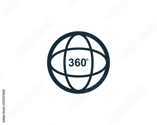 Fotografia Camera 360 Degree Icon Vector Logo Template Illustration Design