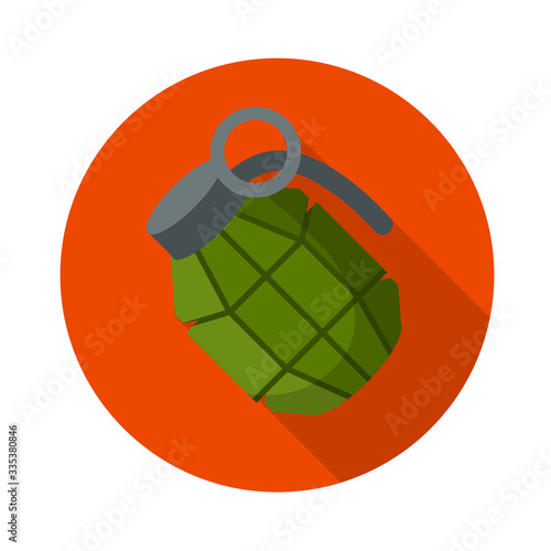 Vector Green bomb Canvas Print