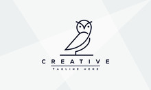 Owl Logo Design And Icon Conce...