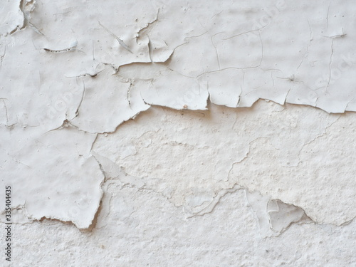 Ditry white old painted wall peeling off cause by low quality paint that has inadequate adhesion and flexibility,Over thinning the paint or spreading it too thin Canvas Print