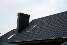 Black Metal Tile Roof. Roof Me...