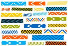 Chevron Washi Tape Strips. Sem...