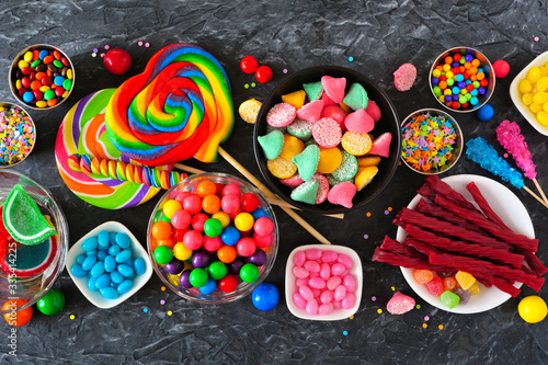 Fotografiet Colorful sweet candy buffet table scene