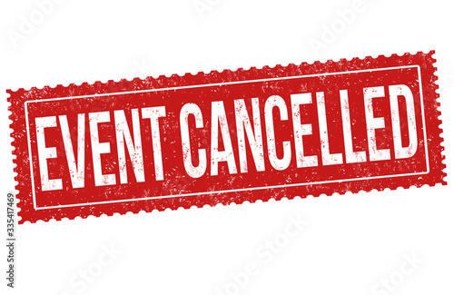 Cuadros en Lienzo Event cancelled grunge rubber stamp