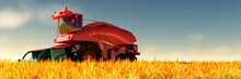 Illustration Of A Tractor Circ...