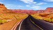 Lees Ferry Road, also called Honey Moon Trail, in Marble Canyon in Vermilion Cliffs Wilderness Area, Arizona, United States