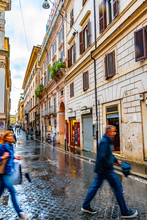 Rome, Italy. Cobblestone Stree...