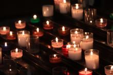 Votive Candles In A Church
