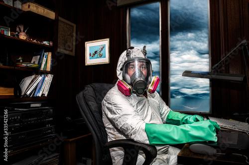 Obraz na plátně No Extra Precautions; Business As Usual
