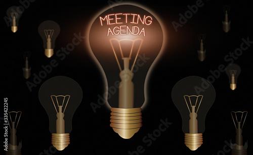 Photo Handwriting text Meeting Agenda