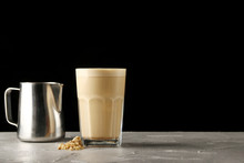 Capuccino In Glass Isolated On...