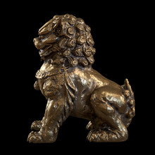 Chinese Lion Guardian Sculpture