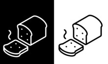 Breakfast Icons Vector Design Black And White