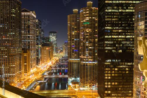 Fototapety, obrazy: Chicago at night